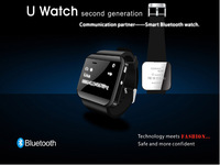 Free shipping! Bluetooth Smart Watch WristWatch U2 U Watch for iPhone 4/4S/5/5S Samsung S4/Note 2/Note 3 HTC Android Smartphones