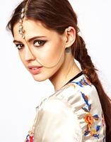 Hair Chain Sexy Gem Tassel Ear Clip Edge Clip Hairpin Siamese Wedding Barrettes Hair Accessories Jewelry For Women Headwear