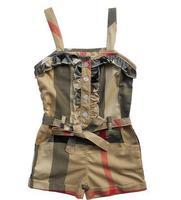 5pcs/lot fashion Belt Shorts Sling plaid One-Piece Romper for baby girl Cotton Condole belt sleevee  S M L XL XXL FOR2-7T  kids