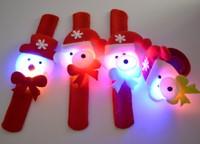 New Christmas Children Boys Girls Cute Animal Santa Claus  Slap Snap Rubber Bracelet Wrist Toy Kids Party Toys Electronic 1x