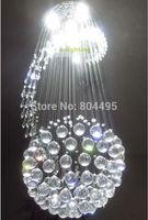 180CM Round Spiral LED K9 crystal ceiling light pendant lamp Chandelier Lighting