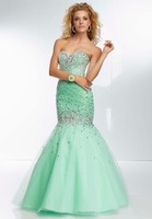 Popular Custom Made Free Shipping 2014 Mermaid Beaded Long Red Lilac Prom Dresses Ball Gowns