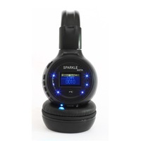 Freeshipping B-570 Bluetooth headphone LED Light with screen with FM MP3 Player support TF