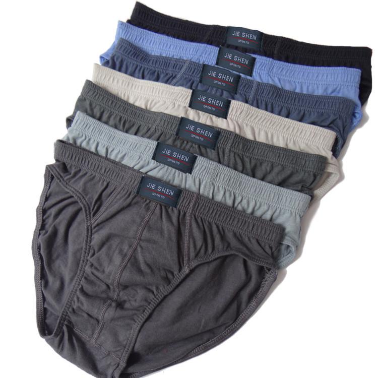 Cheapest ! 100% Cotton Mens Briefs XXXL Plus Size Men Underwear Panties M/L/XL/XXL/XXXL/4XL/5XL / Men's Breathable Panties 5PCS(China (Mainland))