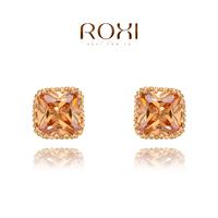 2014 Seconds Kill Brinco Brincos Roxi Gift Genuine Austrian Shinning Crystals Fashion Zircon Stud Earrings Hot Sale For Party