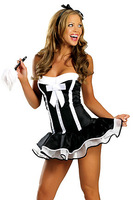Sexy Lingerie French Maid Costume Halloween Fantasy Party Erotic Outfit For Women