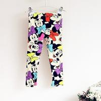 Momo- wholesale new 2014 girls new design spring all-match MICKEY MOUSE leggings Kid's fashion lovley skinny leggings