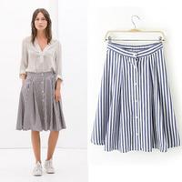 Free Shipping  2014 za*  Milan Fashion week Fashion Skirts  Saias peplum American apparel Summer