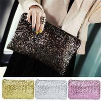 2014 New Shiny Sequins Women Day Clutches/Blingbling Evening Party Handbags for Women/Fashion Zipper Bags Women