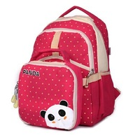 free shipping students schoolbags backpack preppy panda cute girls boys canvas children bags  Y225
