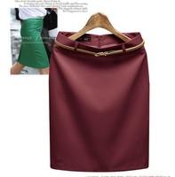 Hot-selling 2014 plus size clothing short skirt slim step fashion formal female skirt free shipping