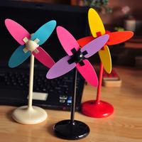 Multi-colored magicaf diy windmill small electric fan mini usb battery small fan silent