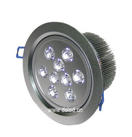 CE,good quality 9W LED Downlight,110-250VAC with LED driver,DS-CSL-30,9X1W,Warmwhite,white,