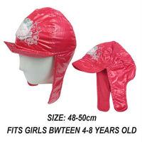 Brand New Authentic Hello Kitty Girls Winter Warm Waterproof Windproof Bomber Hat Earflap Hat Ski Cap Polar Fleece Free Shipping