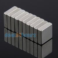 10pcs Bulk Super Strong Strip Block Magnets Rare Earth Neodymium 10 x 10 x 3 mm N35 Free Shipping