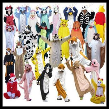 Горячая взрослый мужской фланель пижамы взрослых косплей мультфильм симпатичные животные ...