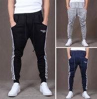 Free Shipping Men Baggy Harem Jogger Lie Fallow Sport Suit Slim Trousers Slack Sweat Pants