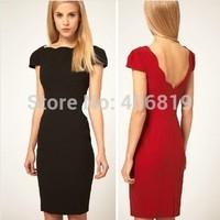 new spring and summer dress slim short sleeved all-match beautiful dress OL Club