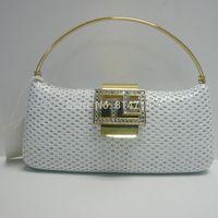 White Color Women's Unique Design Handbag Fashion Evening Handbag