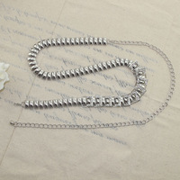 2014 new fashion silver color lady's waist chain belts for women metal