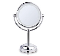 Cosmetic mirror 2014 high-grade bathroom LED lamp lens large double table with lamp mirror  iron carbon alloy makeup mirror