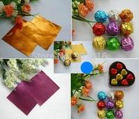 Handmade chocolate packaging tin foil food aluminum foil  ferrero rocher chocolates joyful packing paper 10* 10cm 100PCS/bag 1.2
