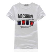 2014 summer new fashion men's round neck short sleeve men burst models short-sleeved t-shirt printing Poker