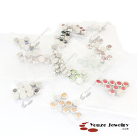 Free Shipping 12 Colors Stones Charms for Floating Lockets