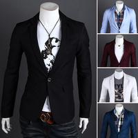 Freeshipping 2014 Autumn New Fashion Style Blazer Men, Slim Top design Suit ,Korean Slim Suit Coats,Wholesale&Retail,Dropshiping
