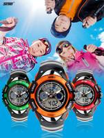 Fashion Cool Dual Display Analog Digital Watch Children Favorite Rubber Sports Wristwatch Luminous Chronograph Clock 3ATM NW764