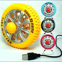 free shipping Summer novelty gift car tyre desktop mini desktop charge fan 4