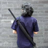 Japanese Samurai Man Sword Umbrella Katana fibers long-handled Umbrella Cool Gift Black Novelty