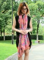 2014 New designer wave scarves 6 colors Fashion Women Scarves Long Voile Scarf Swap Shawl Hijab
