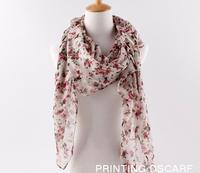 new fashion printe flower design hijab chiffon viscose long shawls/scarves.180*90cm.10pcs/lot.