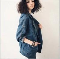 spring 2014 women coat slim Denim Jacket Jeans women clothing Women Fashion Jeans blazer women Loose Jeans Jackets Coat Casual