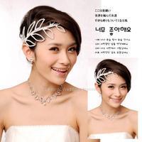 The new queen wedding jewelry wedding tiara crown rhinestone bridal wedding hair band leaves elegant accessories