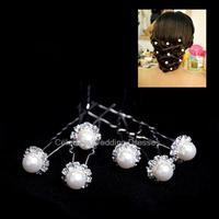 White red single bead bridal bridal headdress hairpin wedding hair accessories jewelry