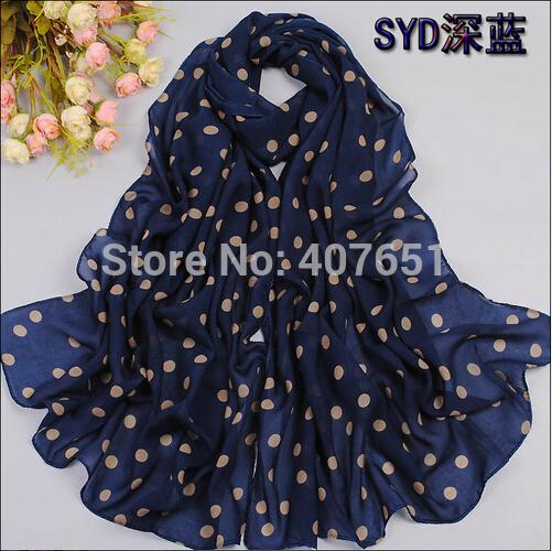 Cachecol para o sexo feminino longo ponto ondas do sol de verão xales na primavera do novo tecido de lã é girada lenços de seda toalhas de praia(China (Mainland))