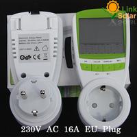 230V 16A AC EU Plug energy meter power KWH Consumption Monitor Analyzer digitalFree Shipping watt meters hot selling