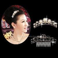 pearl crown tiara wedding bridal accessories crown wholesale