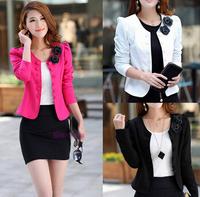 2014Fashion Brand Coat Jacket Women Suit Blazer Plus Size Basic Jackets Coats Blazers Full Sleeve Outerwear Coats//Free shipping