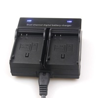 Dual Channel Battery Charger For Nikon EN-EL15 D7000 D7100 D600 D800 D610 V1 etc+Free shipping (tracking number)