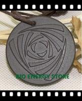 L018 20pcs/lot Round shaped three-leaf with nano card nano energy pendant scalar energy