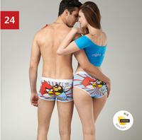 (1 set = 2pcs) Lovers Underwear set ~ Cartoon Seamless Ladies' underwear + Men's Boxer Shorts