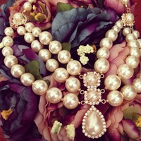 new fashion multilayer big pearl  necklaces & pendants   XL-096