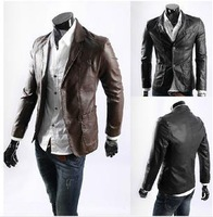 Leather jacket desigual motorcycle jaquetas de couro clothing casual winter jacket men fashion plus size slim fit blazer D390
