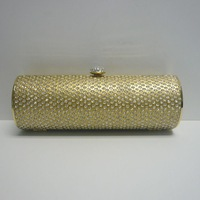 Hot sell High Quality Golden Lady Evening Bag Fashion Handbag Free Shipping