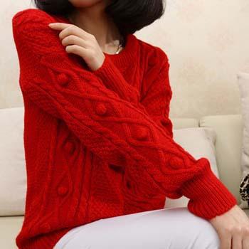 Новый осенний и зимний ретро свитер