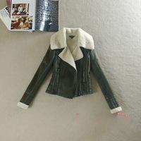 Winter Women Sheepskin Coat Leather Jacket Thickening Warm Short Style Imitation Berber Fleece Jacket for Women New 2015 A917