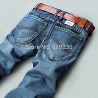 100% Excellent! Men Jeans Famous Brand 2014 Summer New Arrival Cotton Denim Blue Pants Fashion Designer Jeans Men Plus Size 40